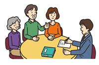 居宅介護支援事業所の介護支援専門員が訪問します