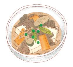 ゲンキレシピ「食物繊維たっぷり肉豆腐」