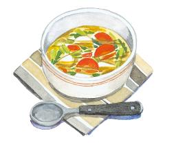 2:根菜のさっぱりスープ