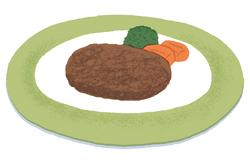 もち麦レシピ1:もち麦入りハンバーグ