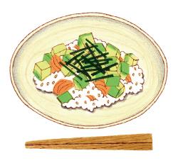 アボカドとサーモンのちらし寿司