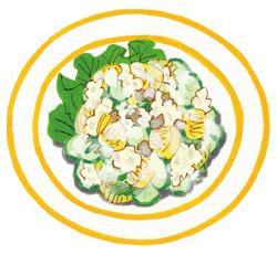 セロリときゅうりのヨーグルトサラダ