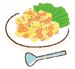 大豆とポテトのホットサラダ