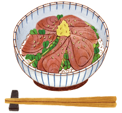 カツオのづけ丼