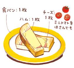 焼くだけハムチーズトースト