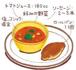 加熱5分の具だくさんスープ