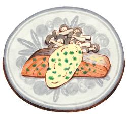 鮭のクリームチーズソース
