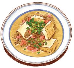 トマトと厚揚げのそぼろ煮