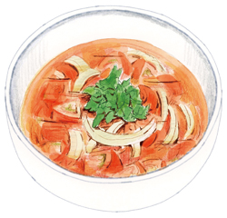 〈リコピンで紫外線対策〉フレッシュトマトのスープ