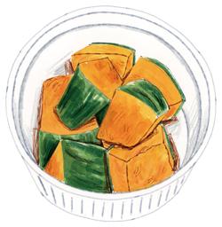 〈β-カロテンを効率よく〉かぼちゃのバターしょうゆ